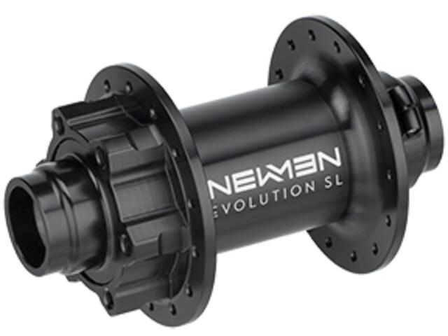 NEWMEN MTB SL Moyeu avant 20x110 mm Boost J-Bend 6 boulons, black anodised/grey